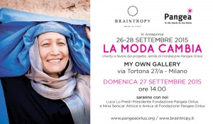 invito - domenica 27 anteprima charity 'La Moda Cambia' per Fondazione Pangea Onlus