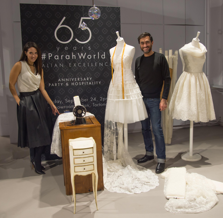 Anche Parah pensa alle nozze e si veste di bianco al Press Day con me e Sartoria Massimo