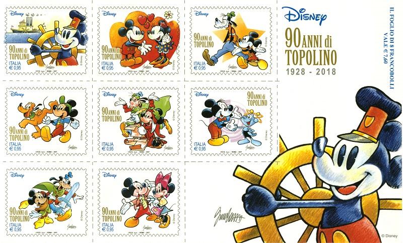 201743 foglietto Disney 90 anni diTopolino