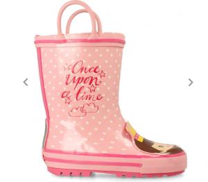 Stivali di gomma da bambina con principesse sul puntale Gioseppo
