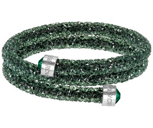 Swarovski-Crystaldust-Double-Bangle-Green-5250687-W600