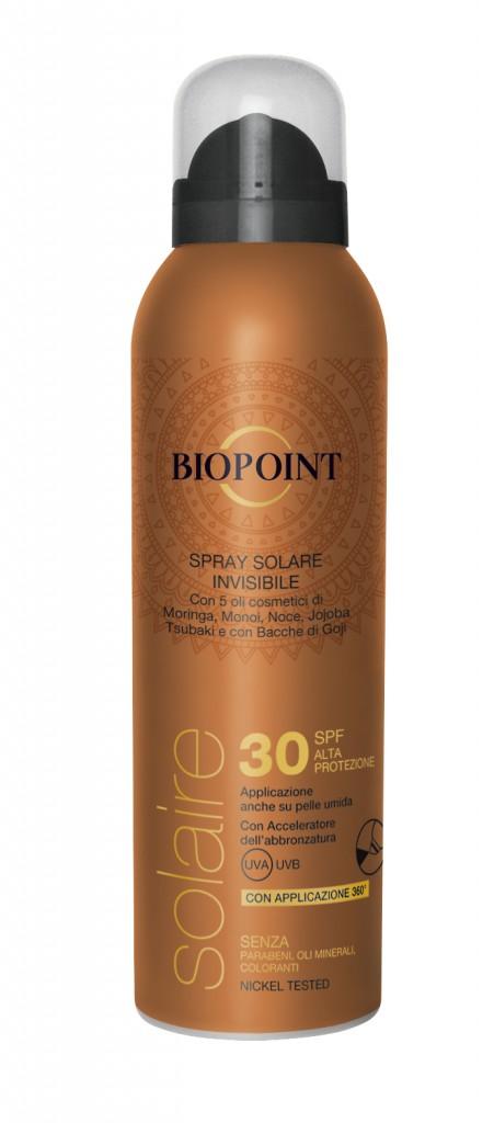 Biopoint Solaire_Spray Solare InvisibileSPF.30