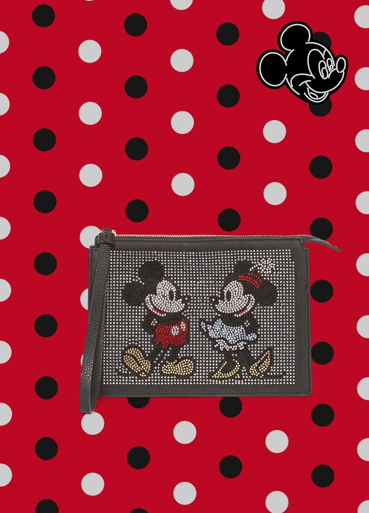 Pochette con strass Mickey Mouse e Minnie OVS