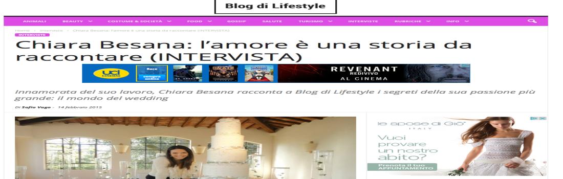 """Blog di Lifestyle: """"L'amore è una storia da raccontare per Chiara Besana"""""""
