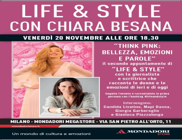Nuovo appuntamento per Life & Style in Mondadori: questa sera si pensa in rosa tra belle storie ed emozioni
