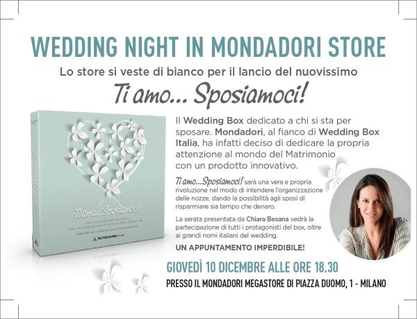 """Finalmente arriva nei negozi """"Ti amo…Sposiamoci!"""", il wedding box firmato Mondadori Store"""